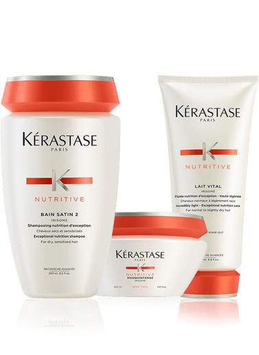 Kerastase Kerastase Nutritive irisome Şampuan 250 ml + Kalın Maske 200 ml + Lait Vital Krem 200 ml Renksiz